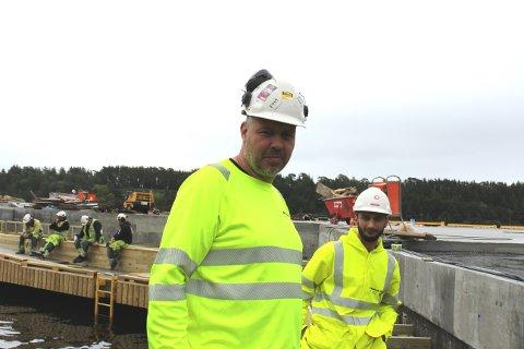 Espen Kaalstad og Nader Ahmadu fra JM Montasje.