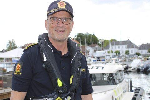 ROLIG: Politisjef i Grenland, Dag Størksen har hatt lite bråk.