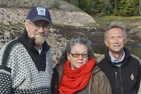RØDT PÅ KONGENS DAM: Ole Roger Dyrkorn, Ana López Taylor og Hans Ødegård.