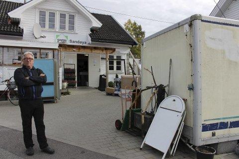 SANDØYA: Tormod Eek har søkt om å utvide butikken.