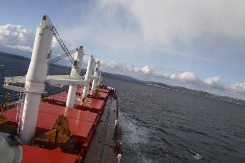 SKIPSTRAFIKK: Kystverket vil utdype skipsleden i Grenland.