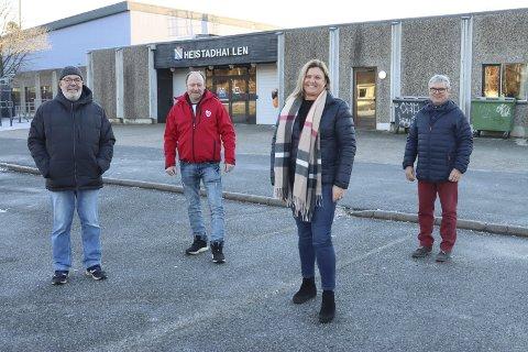 Rolf Ejme, Tom Berge Olsen, Merethe Sjølie Pedersen og Jan Einar Skarding fra Heistad Arbeiderlag sto nylig fram her i avisa og ville ha svømmehall, til tross for prisen.