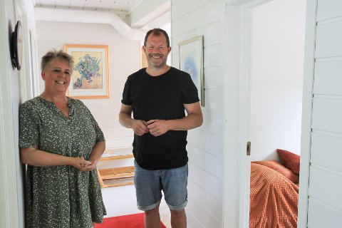 MER Å GJØRE: Torill Forwall og Hans Arne «Hasse» Frøland har kommet opp med nye ideer og inntektsmuligheter for Munk og Klem-bygget.