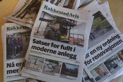 Opplagsvekst: Rakkestad Avis er en av opplagsvinnerne for 2016.
