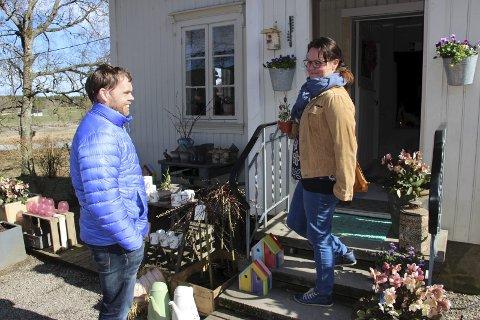 Tok turen: Arne Martin Mykland og Mette Mykland hadde tatt turen fra Fredrikstad. Alle foto: Beate Sloreby
