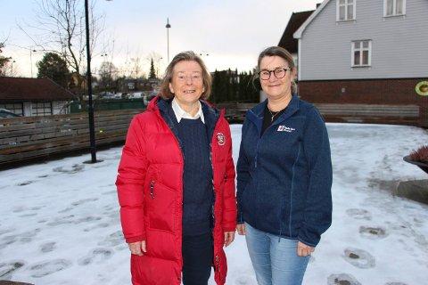 Vitnestøtter: Inger-Marit Skallerud (til venstre) og Laila Walheim