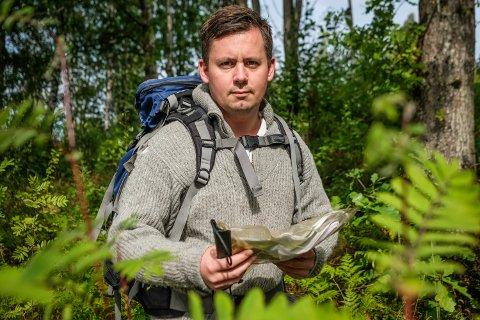 Marius Andersen er glad kompisene sendte han ut på tur i naturen. - Det har vært en drøm lenge, sier han.