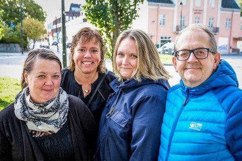 Høstgruppa i Rakkestad Handelstand består av Linda Hansen, Irene Larsen, Anne Helen Halvorsrud og Raymond Elverhøi. De ser frem til høstlørdag i sentrum 22. september.