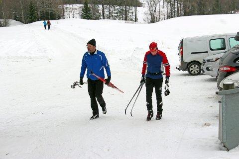 I Østbygda: Det er mulig å gå på ski fra Skrabberud, men foreløpig er det andre løyper som har bedre forhold. Bildet er fra i fjor.
