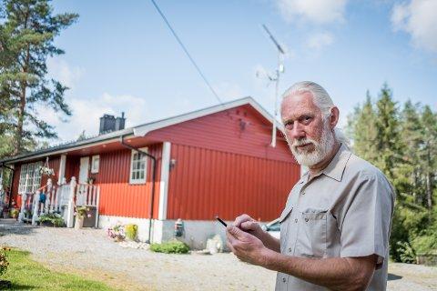 Avhengig av været: Torbjørn Martinsen fikk et uventet svar på hvorfor nettet hadde vært borte så lenge.