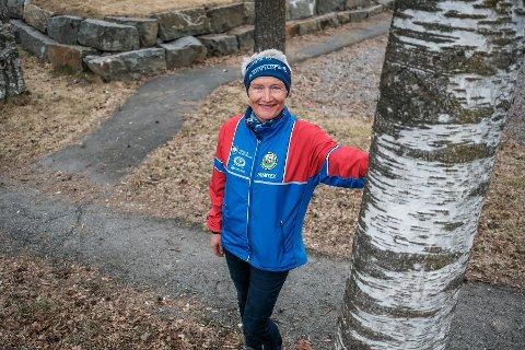 Blant trærne: Bodil Heen Degnes i Skaukameratene håper mange finner veien ut til årets 60 poster.