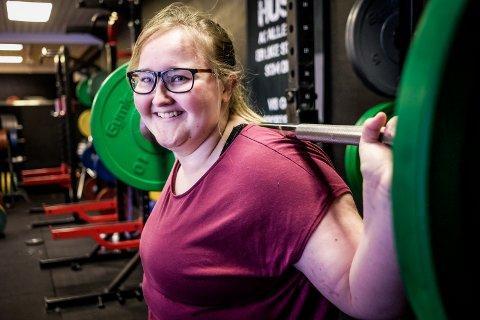 TRENINGSGLEDE: Miriam Holm storkoser seg på trening.