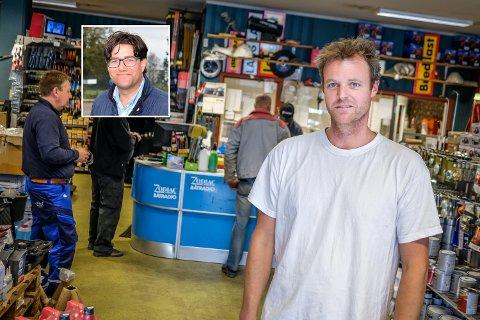 LÆR AV HAABY: Det er Carsten Liers oppfordring til forretningsdrivere i Rakkestad sentrum.