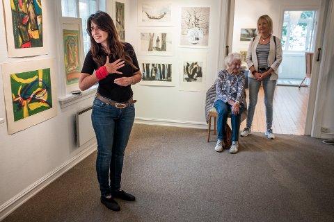 REISER HJEM: Ana Rebora tar farvel med Norge med utstillingen i Galleri Midtstuen.