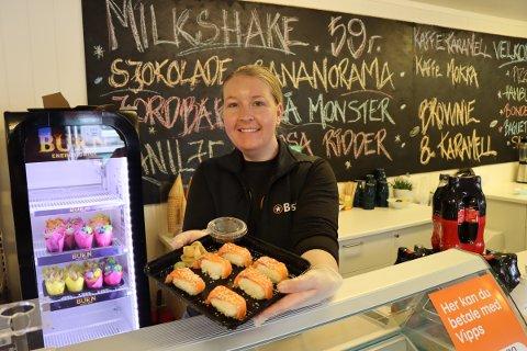 Sushi på menyen: Ny daglig leder Inger-Heidi Steen Elleri (28) i Best Degernes har lyttet til rakstingene og tilbyr nå sushi.