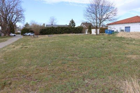 ØNSKER Å BYGGE HER: Rakkestad kommune ønsker å ta i bruk dette området for å bygge fire småhus for vanskeligstilte personer.
