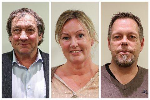 Arbeidsgruppa: Dagfinn Søtorp (Sp), Barbro Urke (MDG) og Knut Ruud (H) er de tre politikerne som sammen med administrasjonen skal se på hvilke bygg og veier som skal prioriteres innen vedlikeholdsbudsjettet.