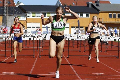 NM-nedtur: Magdeli Støten ble nummer fire på 100 meter hekk på senior NM i fjor. I helgen trakk hun seg fra forsøket etter oppvarming på grunn av sykdom.