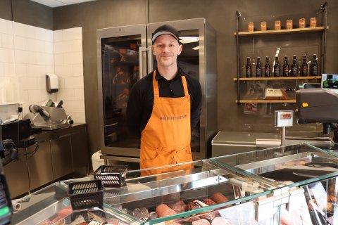 Spesialiteter: Thomas Gehrken Langeland i Brødr Ringstad gleder seg til å selge japansk Wagyu-biff.