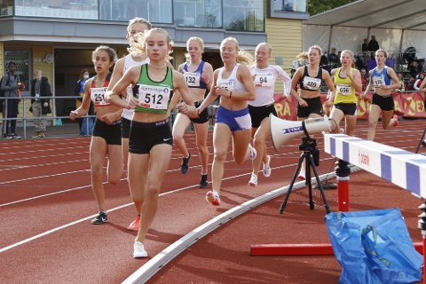 UM: Malin Søntorp Solberg ble nummer to på 800 meter under NM for yngre.