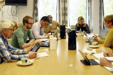 PÅ RETTVEI: Formannskapet  sier de er på rett vei med økonomistyringa. Foto: Ingeborg   Andreassen