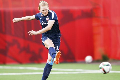 Lisa-Marie Karlseng Utland er med i troppen til EM-kvalifisering mot Wales i Ålesund fredag.