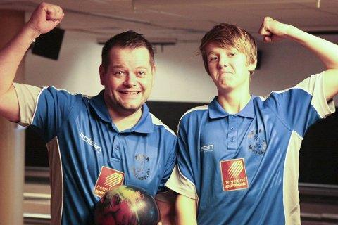 Fredrik Martinussen og Max Østbergh er to av spillerne som har imponert stort for Rana bowlingklubb. Foto: Stian Forland