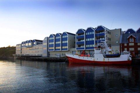 Brønnøysundregistrene fra sjøsiden. Foto: Gorm Kallestad / SCANPIX