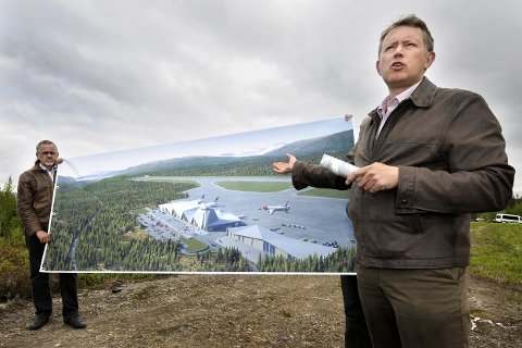 FORNØYD: Henrik Johansen er svært fornøyd med at prosjektet på Hauan er tatt med som et prioritert prosjekt i statsbudsjettet. Foto: øyvind Bratt