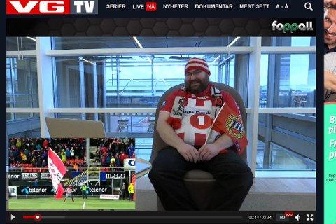 I den nyeste episoden av Foppall på VGTV er Marius Helgå fra Rana intervjuet. (Skjermdump av VGTV)