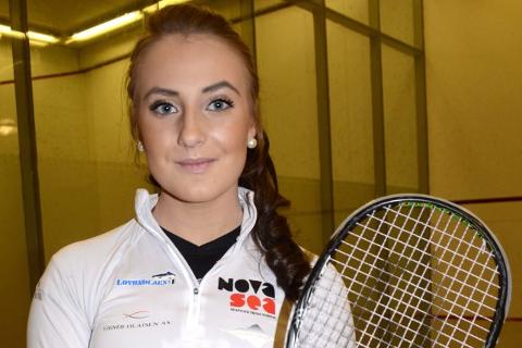 I SISTE LITEN: Andrea M. Fjellgaard fra Lovund avsluttet juniorkarrieren med sitt første NM-gull. Foto: Trond Isaksen