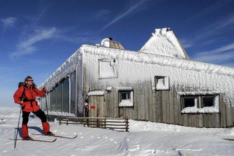 Rabothytta: Mange turfolk har i vinter tatt turen opp til Rabothytta på ski. Nå jakter Hemnes turistforening på fjellfolk som kan tenke seg å være vertskap på hytta i tre sommermåneder. Prinsippet «Førstemann til mølla» gjelder.foto: Klaus solbakken