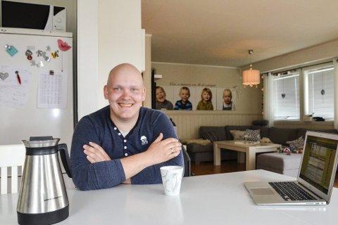 Føler seg bra: Kristoffer Guttormsen føler at energien er tilbake snart sju uker etter stamcellebehandlinga han gjennomgikk. Foto: Toril S. Alfsvåg
