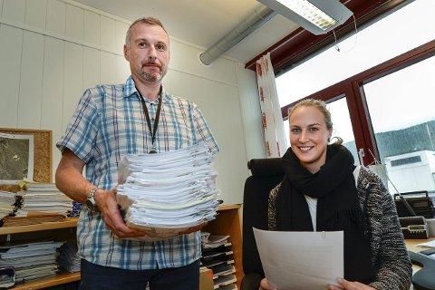 ULOVLIGHETSPROsjekt: Jan Terje Strandås og Marthe Brun Farholm skal avdekke ulovlighetssaker.Foto: øyvind bratt
