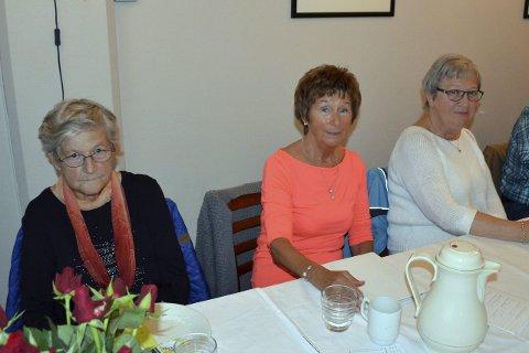 SENIORSURFERE: Ingrid Klausen, Janne Gullesen og Estrid Andersen deltok på Seniorsurfedagen.