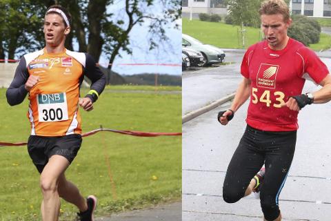 Hvem vinner terrengduellen: Rolf Einar Jensen (t.v.) utfordrer Lasse Blom i Reinfjellmarsjen. De to har begge løpt før, men de har aldri møtt hverandre til duell.