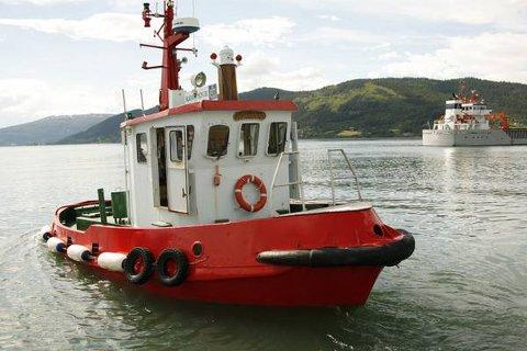 """Stjålet: Onsdag ble beredskapsbåten """"Kørven 2"""" stjålet fra Mo i Rana Havn."""