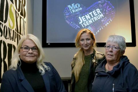 Jenter i Sentrum, Ida Moss, Trine Bjerkli Gabor og Mai Britt Moe