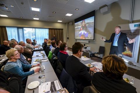 På topp: Indeks Nordland ble presentert denne uka av Erlend Bullvåg. Hans viser til at fylket er i en særstilling i Norge. Foto: ØYvind Bratt