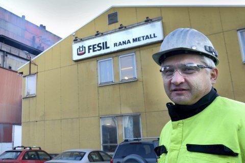 Verksdirektør Tommy Tunstad ved Fesil Rana Metall. Arkivfoto. Foto: Øyvind Bratt
