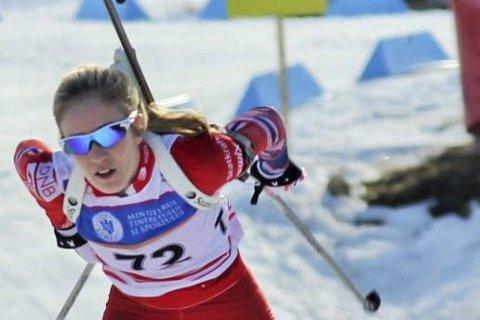 DOBBELT GULL: Skonseng ULs Emilie Ågheim Kalkenberg hadde kun en bom - på stående, da hun tok sølv. Foto: Lene M. Tønnesen