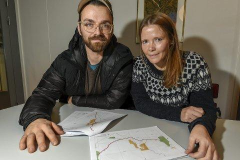 MOTSTAND: Tage Vedal og Camilla Bjugn, henholdsvis styreleder i Naturvernforbundet Nordland og leder i Rana og omegn lokallag, nekter gi opp kampen mot de mange snøscooterløypene.