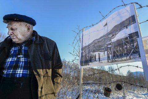 I 2016 kom den tidligere krigsfangen Mykhailo Sidelnyk tilbake til Norge for å oppsøke steder fra krigen. Tårene trillet når minnene strømmet på. Her fra et område på Saltfjellet hvor en av krigsfangeleirene lå.
