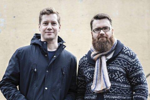 Bak: Bjørn Immonen og Kenneth J. Gabrielsen står bak konseptet BråK, som starter med en minifestival på Teaterkafeen.