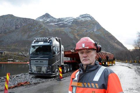 Jann Eliasen, prosjektleder Statens vegvesen veiprosjekt Liatind - Olvikvatnet