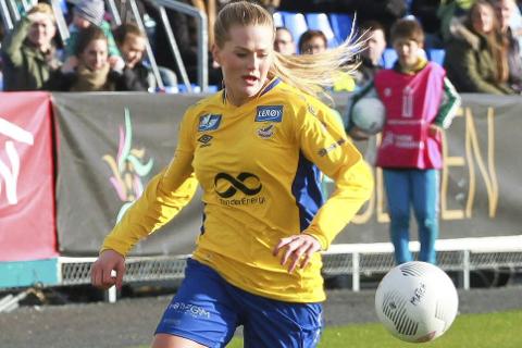 I form: Lisa-Marie Karlseng Utland har funnet målformen igjen. Mot Urædd ble det to mål.