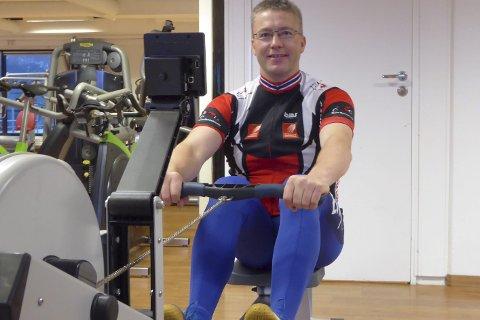 I hardtrening: Bjørn D. Kristiansen trener nå både korte intervaller og lengre distanser. Nå skal han til NM i romaskin i februar.