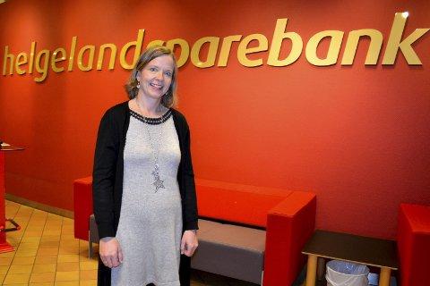 Nye utfordringer: Hanne Nordgaard er ansatt som administrerende direktør i Helgeland Sparebank. Hun ser fram til nye utfordringer.