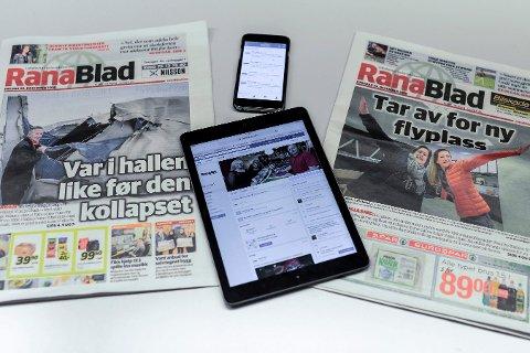 Rana Blad leverer nyheter i alle kanaler, både på papir, nettbrett og mobil.