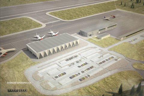 Avgjøres: Nå er det klart at flyplassprosjektet i Rana har fått en tidsfrist for avklaring, både på finans og tidsperspektiv. Skisse: Avinor